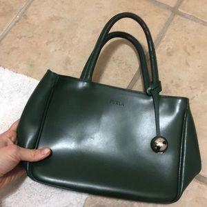 Furla green handbag